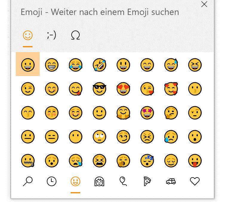 Windows 10 Tipp – bringt Emoticons + erhöht die Sichtbarkeit