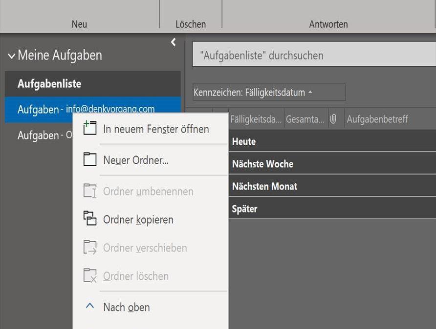 Outlook erleichtert die Zusammenarbeit Chef Assistenz