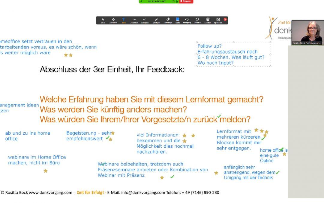 Live Webinare vom Home-Office aus – für viele das erste Mal